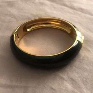 J. Crew black & gold bangle